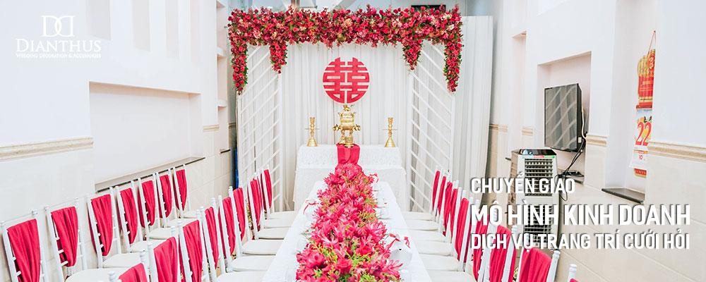 chuyển giao mô hình kinh doanh dịch vụ trang trí cưới hỏi