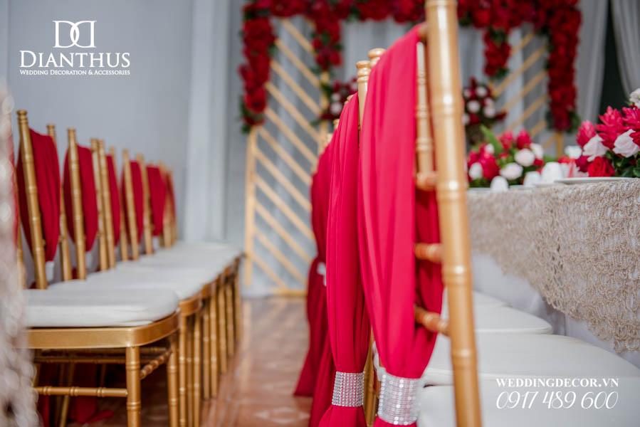 trang trí nhà lễ gia tiên gói nâng cao cnc kèm hoa